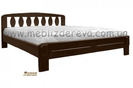 Кровати из натурального дерева двуспальные ЛИЛИЯ