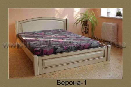 Кровать из натурального дерева ВЕРОНА-1 двуспальная