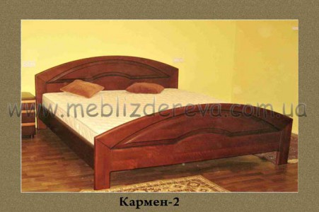 Кровати деревянные двуспальные КАРМЕН-2