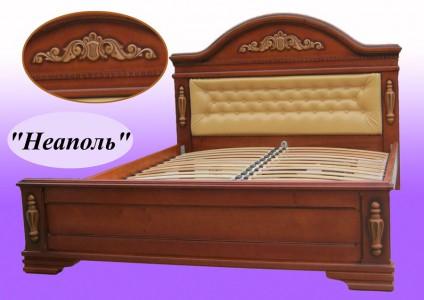 Кровать из натурального дерева двуспальная Неаполь