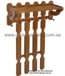 вешалки деревянные настенные из ольхи