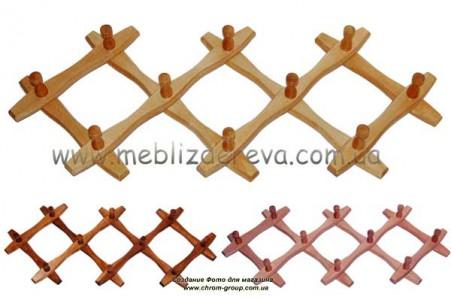 вешалки настенные деревянные из ольхи