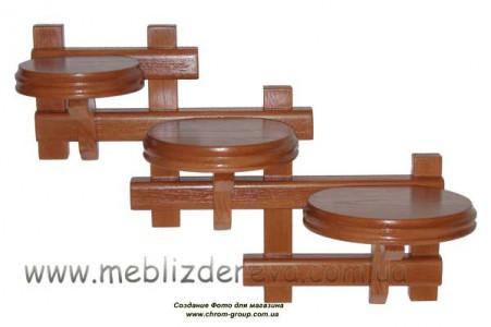Подставки для цветов настенные деревянные