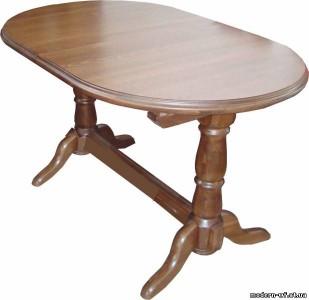 столы овальные деревянные раскладные из массива дуба
