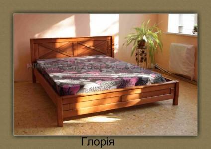 Кровати деревянные двуспальные ГЛОРИЯ светлая