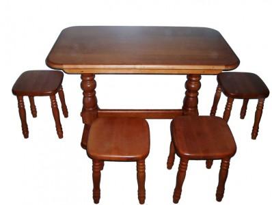 Столы деревянные раскладные из массива ольхи