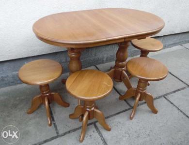 столы овальные деревянные из массива дуба