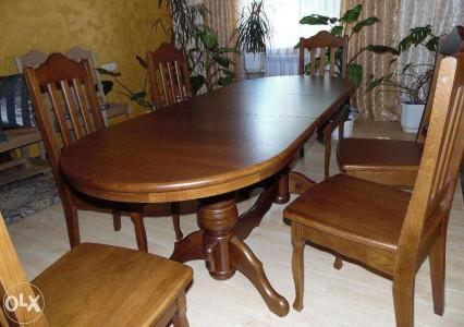 столы обеденные  деревянные из массива дуба
