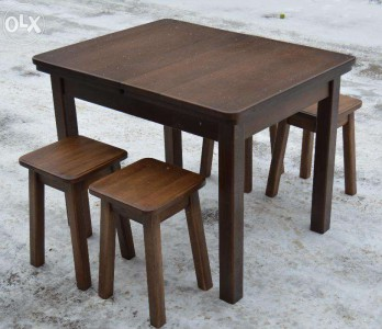 столы из массива дуба